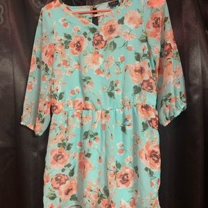 Long sleeve floral romper size 14